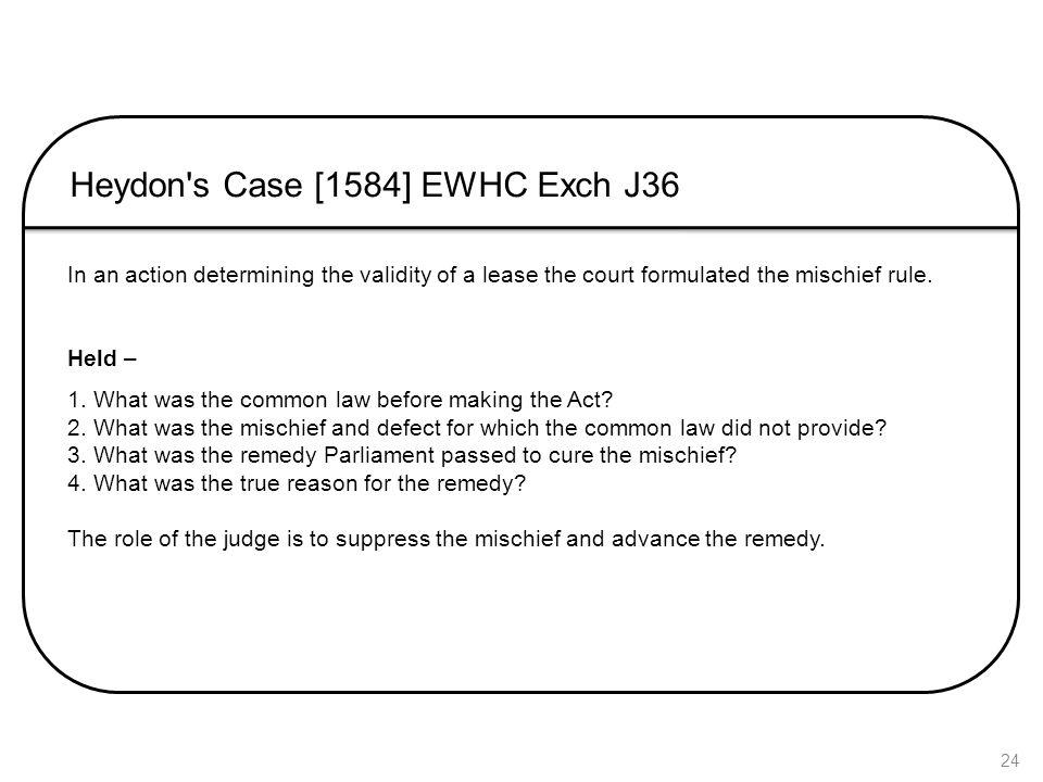 Heydon s Case [1584] EWHC Exch J36